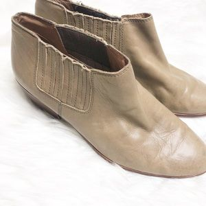 Madewell Spencer Chelsea Tan Ankle Booties Leather